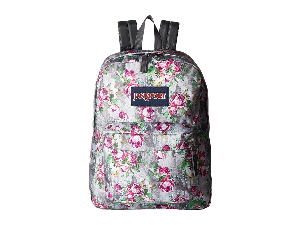 JanSport - SuperBreak (Multi Concrete Floral) Backpack Bags
