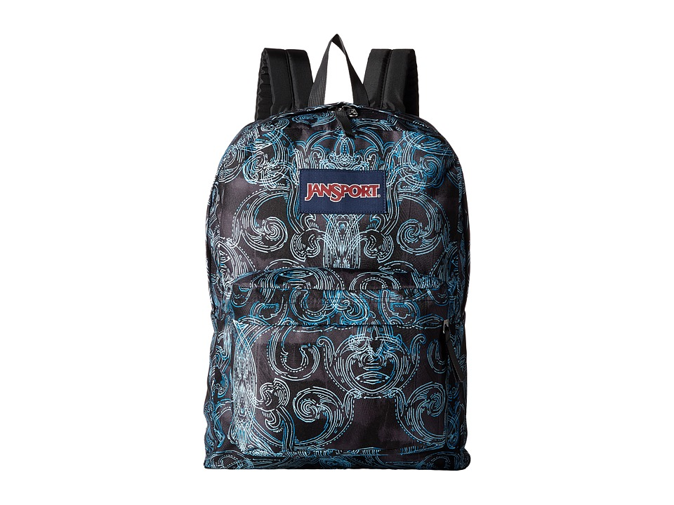 JanSport - SuperBreak (Multi Ornate Blues) Backpack Bags