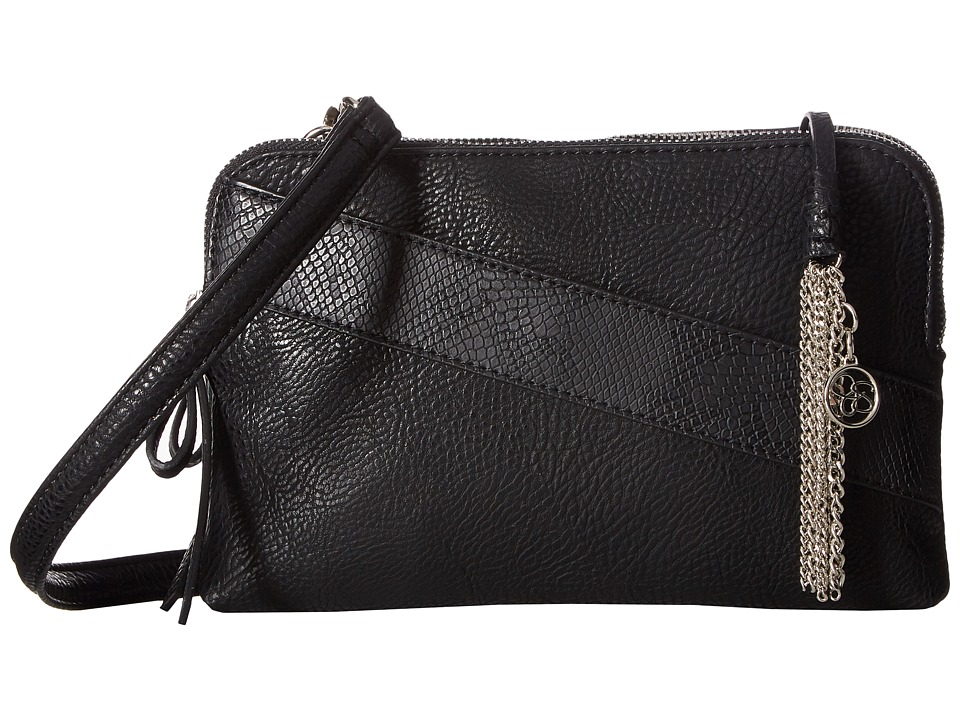 Jessica Simpson - Carra Double Zip Crossbody (Black) Cross Body Handbags