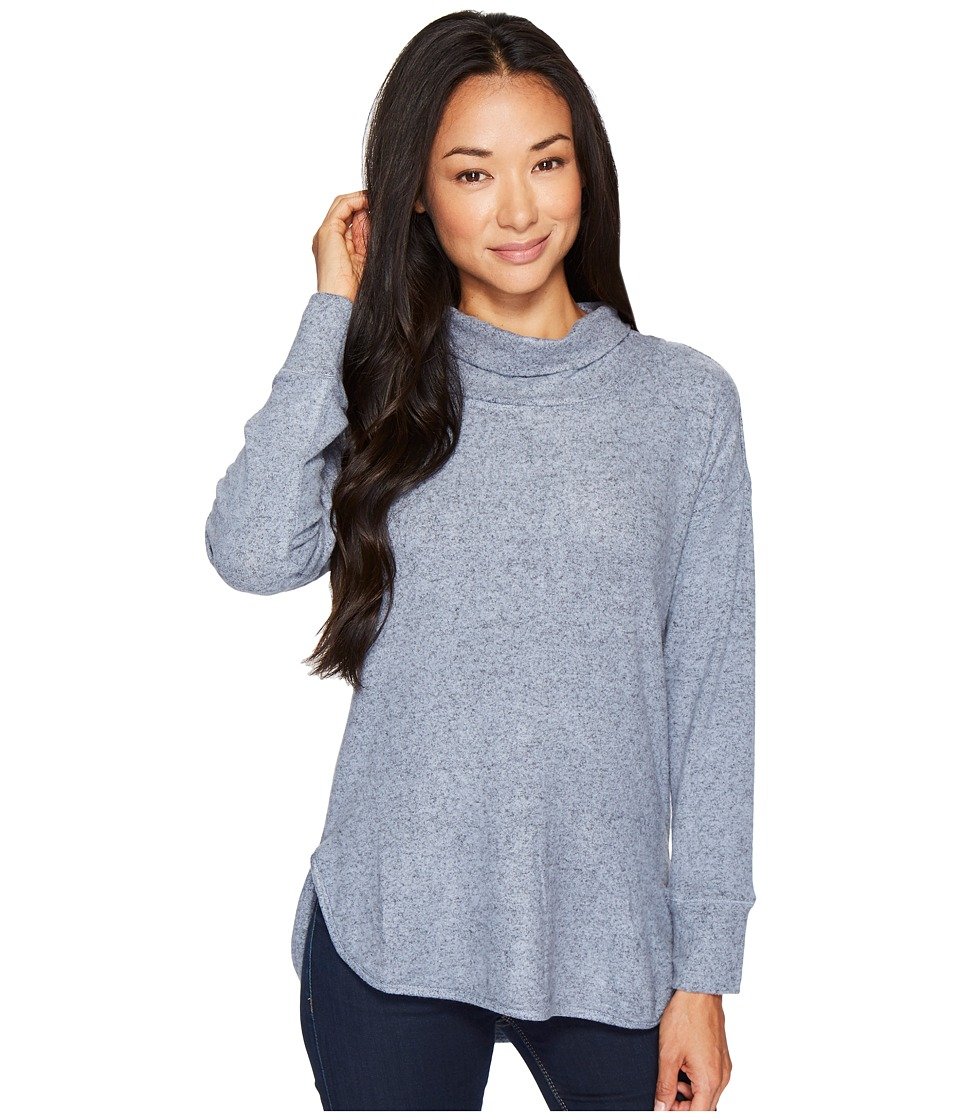 B Collection by Bobeau Melanie Cowl Neck Top (Copen Blue) Women's Blouse