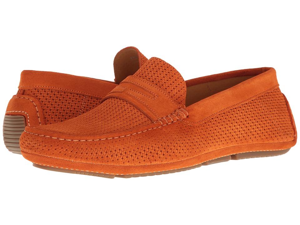 Aquatalia Bruce (Orange Suede) Men's Slip on Shoes