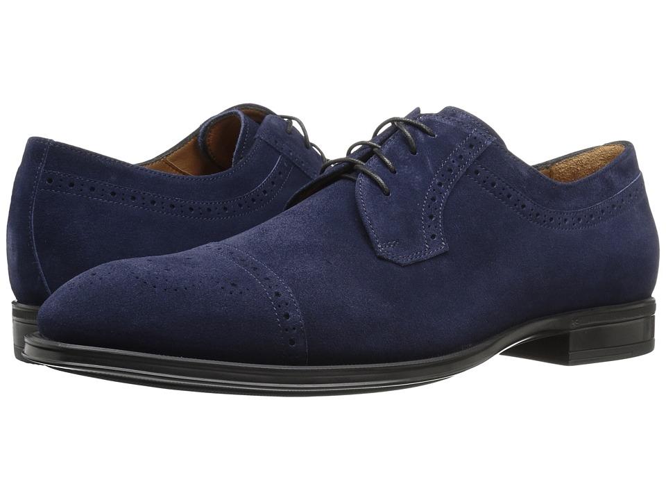 Aquatalia - Duke (Navy Suede) Men's Shoes