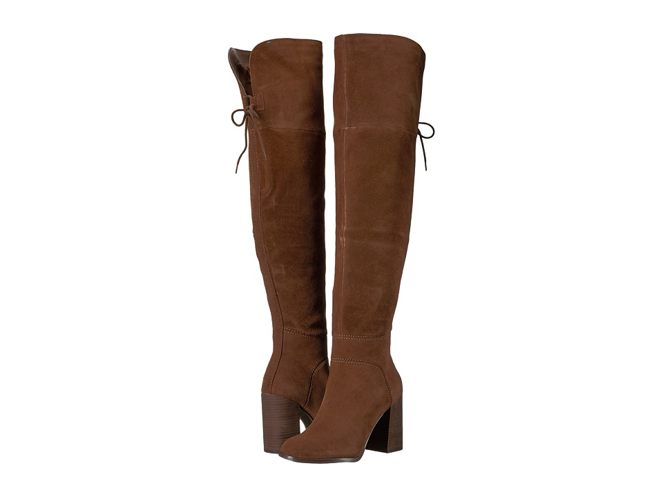Steve Madden Novela Knee Boot (Tan Suede) Women