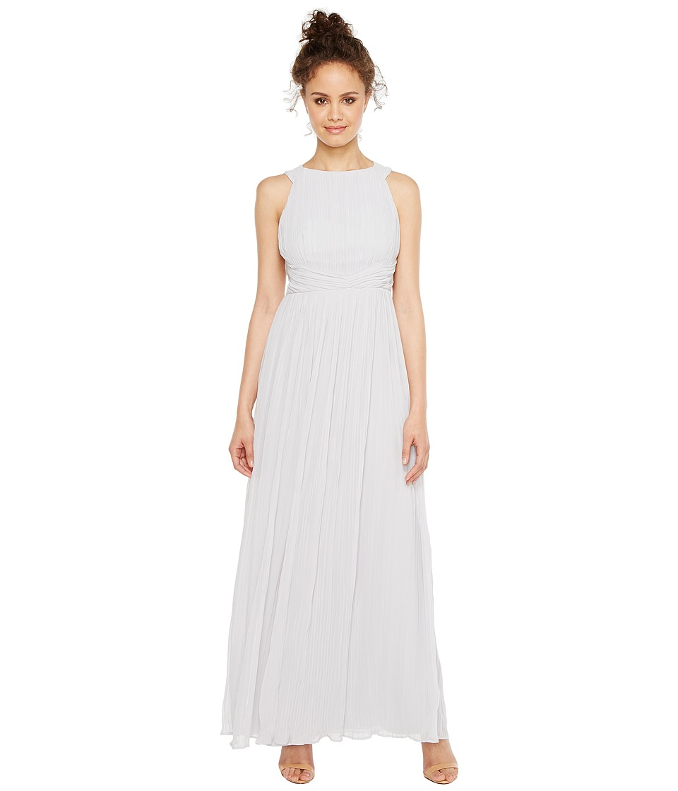 Sangria - Pleated Grecian Gown (Sterling) Women's Dress