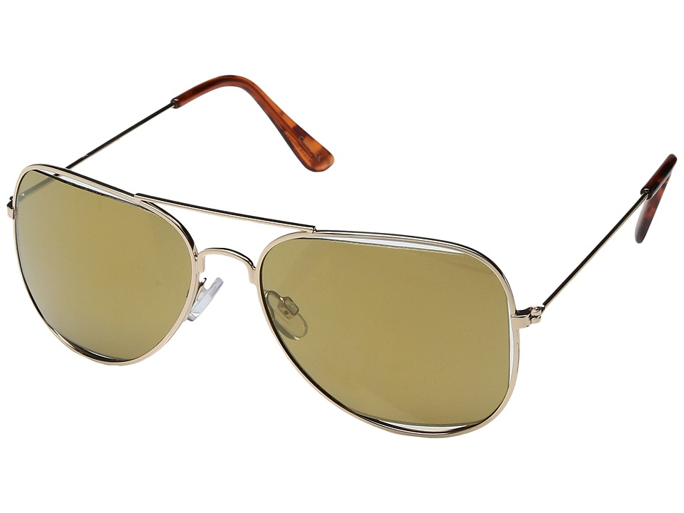 Steve Madden - SM462104 (Gold/Gold) Fashion Sunglasses