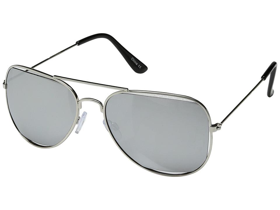 Steve Madden - SM462104 (Silver/Silver) Fashion Sunglasses