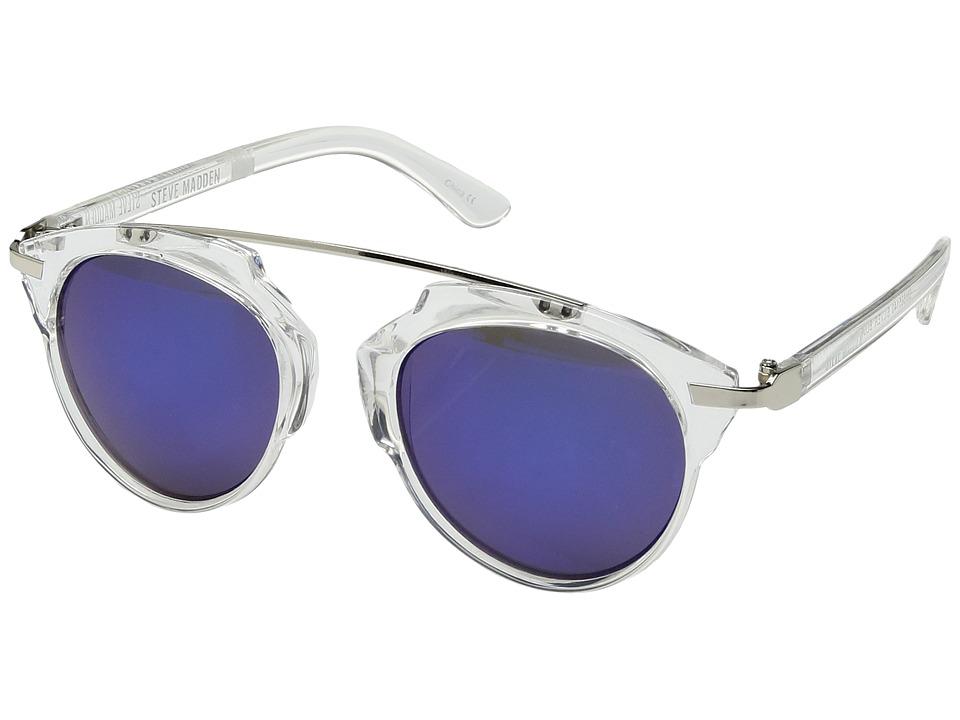 Steve Madden - SM865140 (Sliver/Blue) Fashion Sunglasses