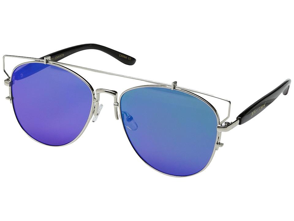 Betsey Johnson - BJ472106 (Silver/Green) Fashion Sunglasses