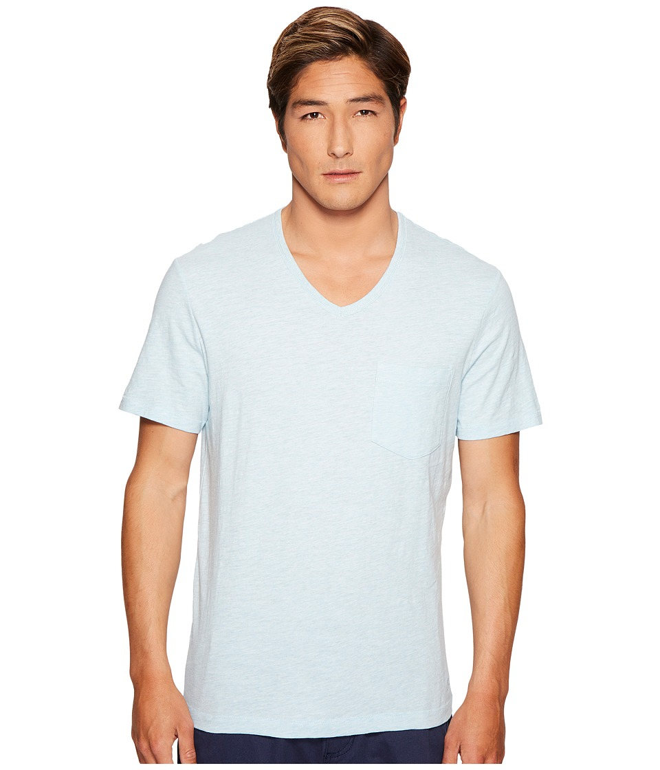 Original Penguin - Bing V-Neck Tee (Blue Glow) Men's Clothing