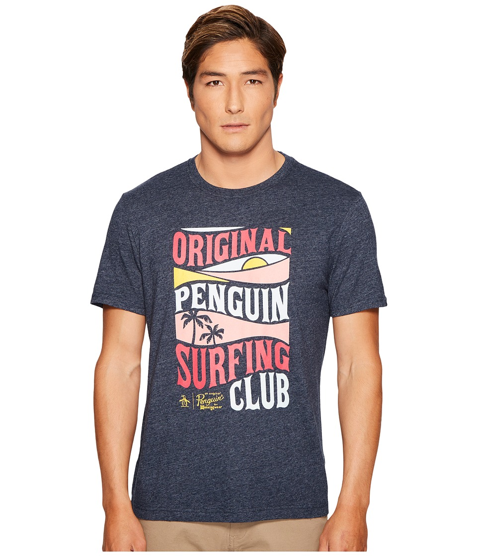 Original Penguin - Surfing Club Tee (Dark Sapphire) Men's T Shirt