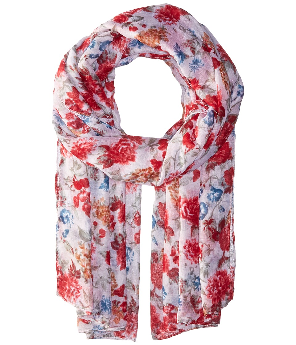 Bindya - Striped and Floral Scarf (Multi) Scarves