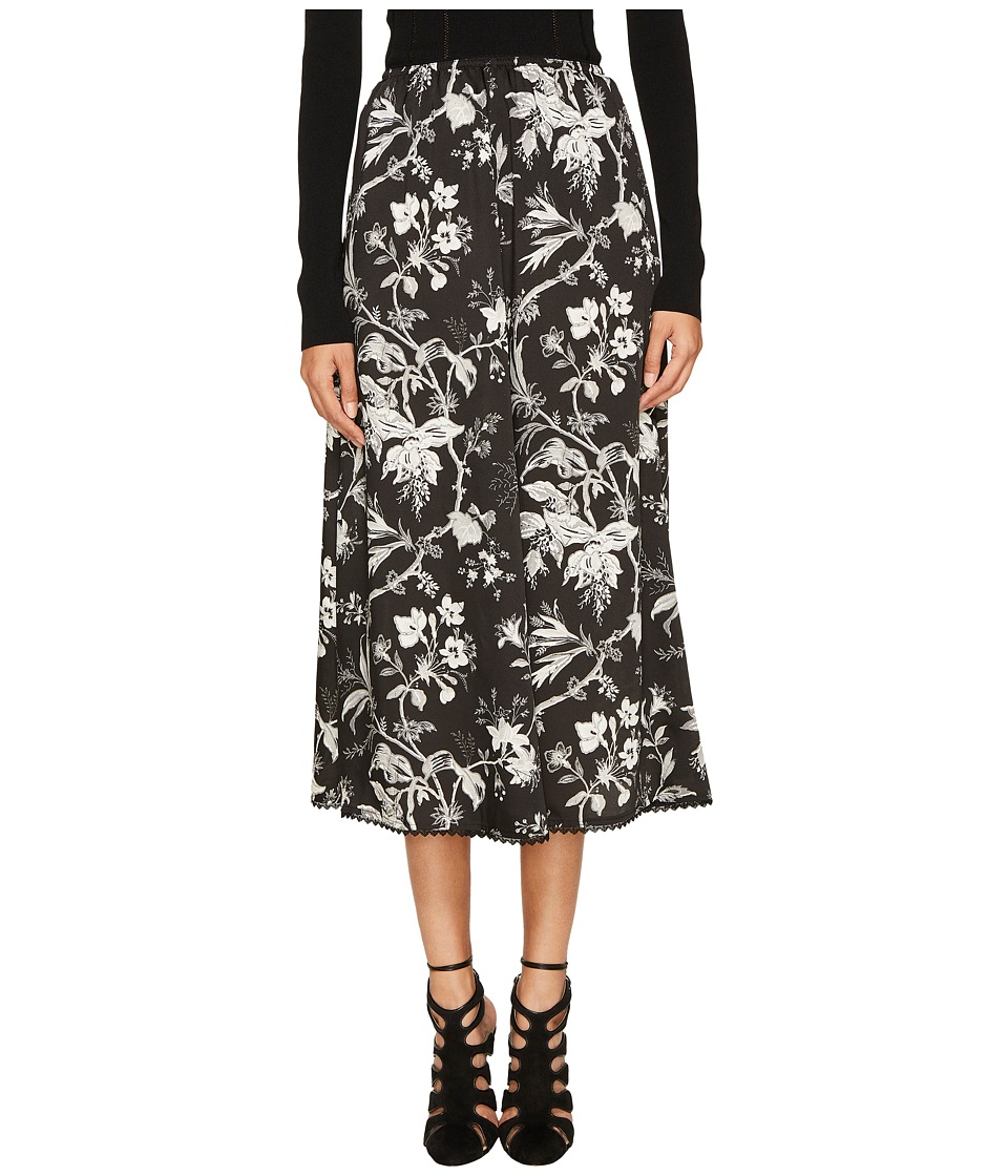 McQ - Fluid Gather Skirt (Darkest Black) Women's Skirt