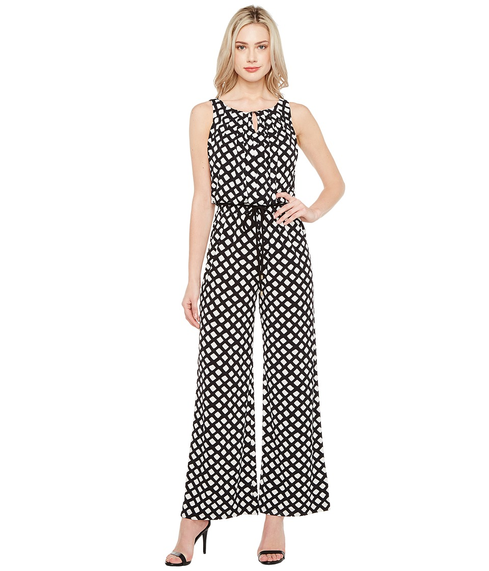 Tahari by ASL - Printed Jersey Jumpsuit (Ivory/Black) Women's Jumpsuit & Rompers One Piece