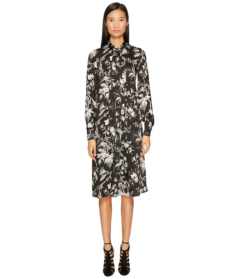 McQ - Pussybow Dress (Darkest Black) Women's Dress