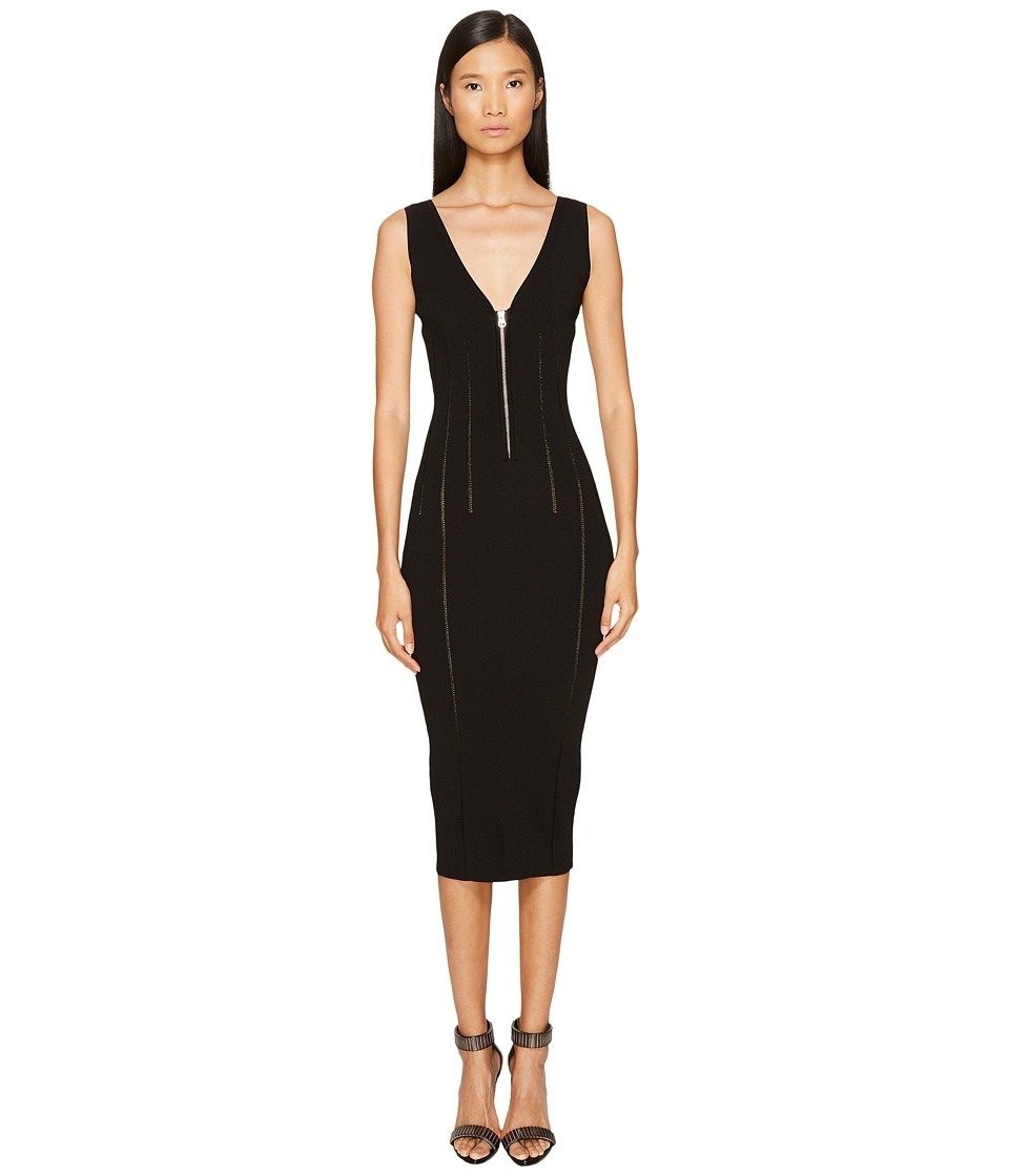 McQ - Body Block Zip Dress (Darkest Black) Women's Dress