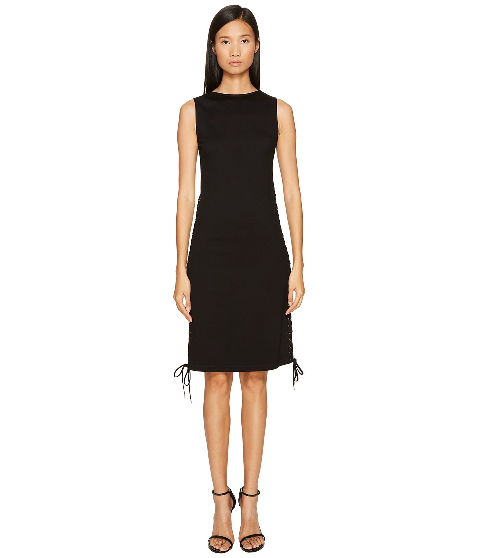McQ - Eyelet Long Dress (Black) Women's Dress