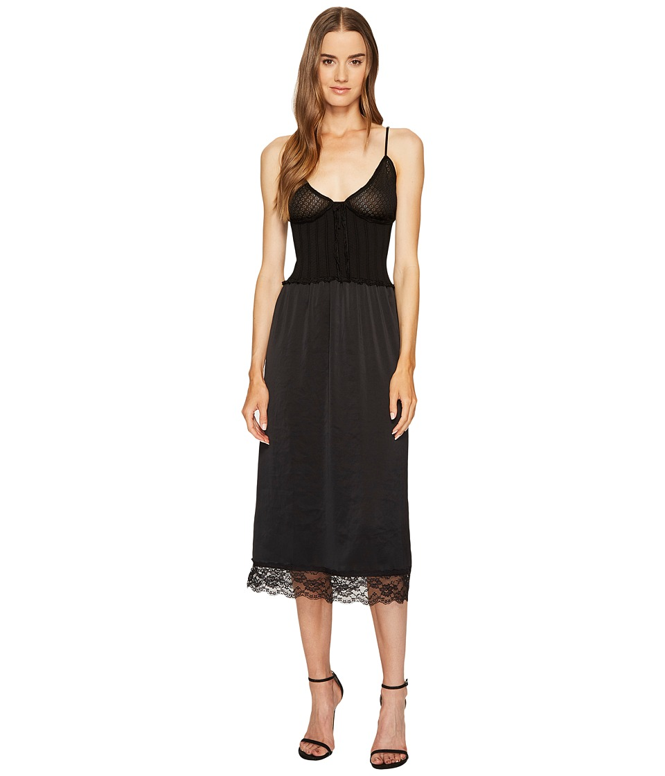 McQ - Knit Lace Slip Dress (Darkest Black) Women's Dress