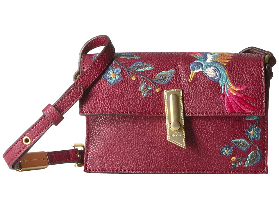 Foley & Corinna - Ma Cherie Taylor Embroidery Crossbody (Berry Sangria) Cross Body Handbags
