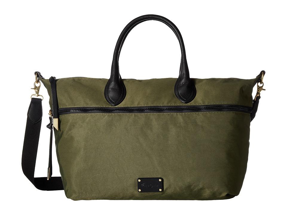 Foley & Corinna - Fusion Nylon Weekender (Desert Green) Weekender/Overnight Luggage