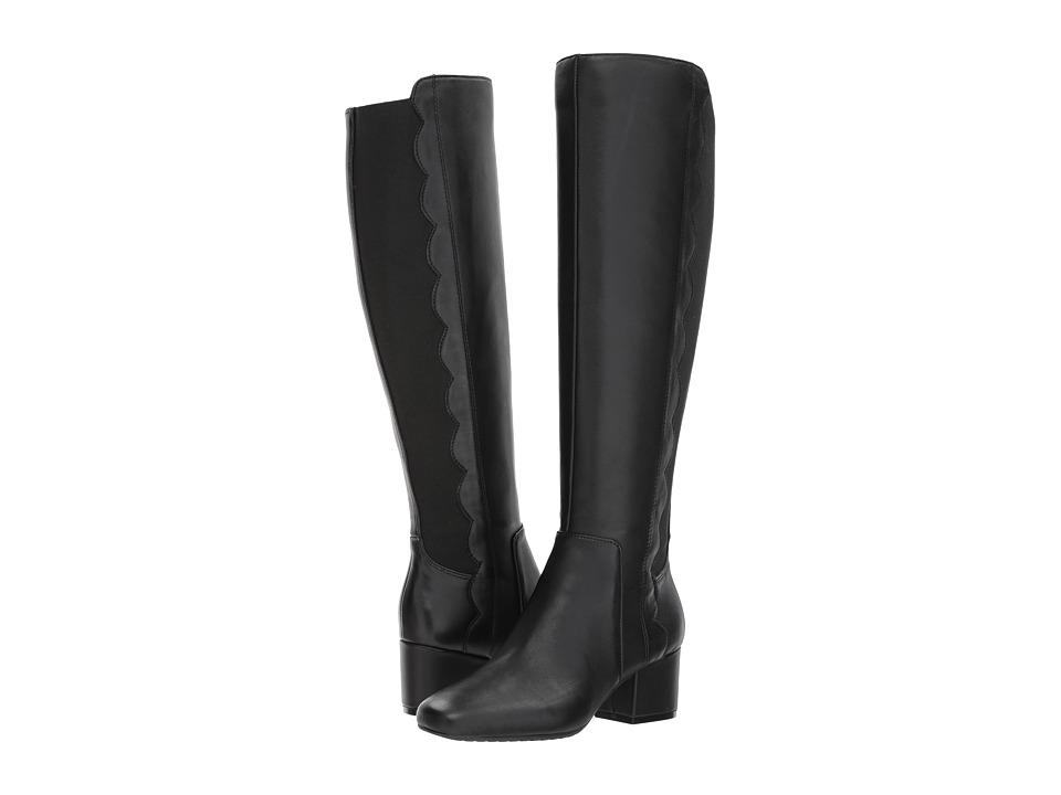Bandolino Florie (Black Leather/Gore) Women