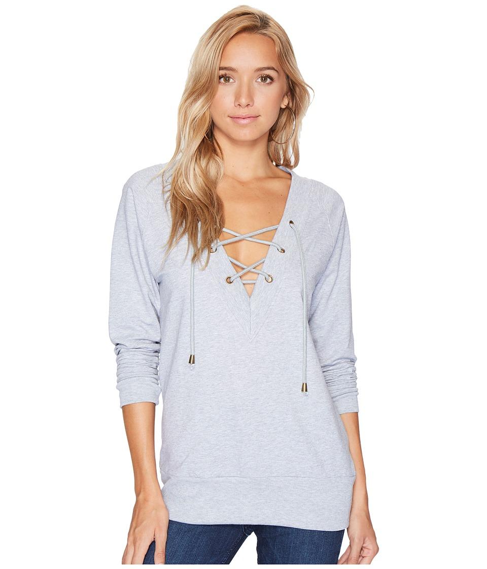 Bishop + Young Teri Lace-Up Sweatshirt (Heather Grey) Women