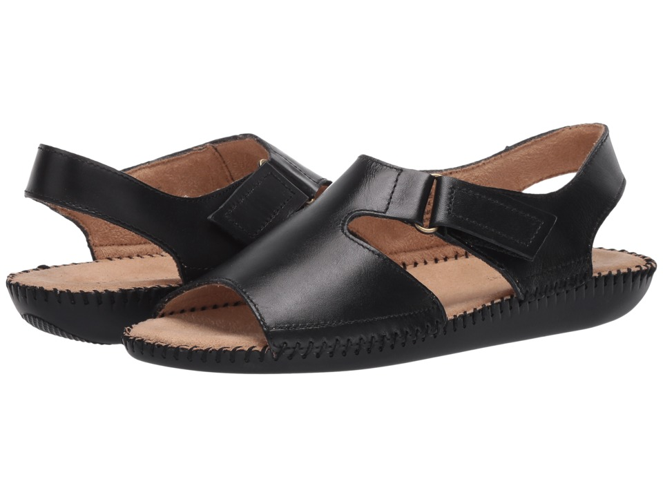Naturalizer - Scout (Black Leather) Women's Shoes