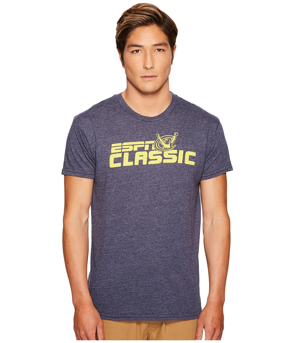 The Original Retro Brand - ESPN Short Sleeve Tri-Blend T-Shirt (Streaky Navy) Men's T Shirt