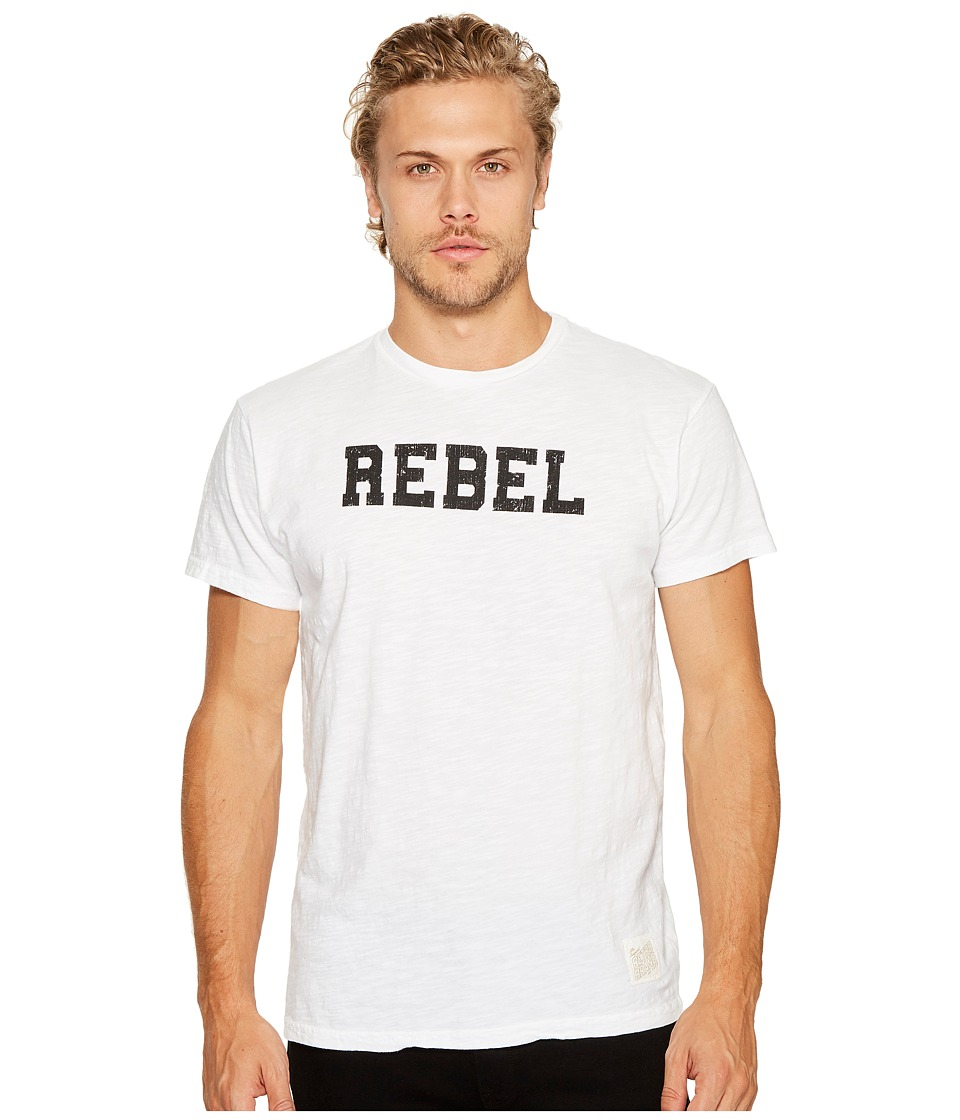 The Original Retro Brand - Short Sleeve Vintage Slub Rebel T-Shirt (White) Men's T Shirt