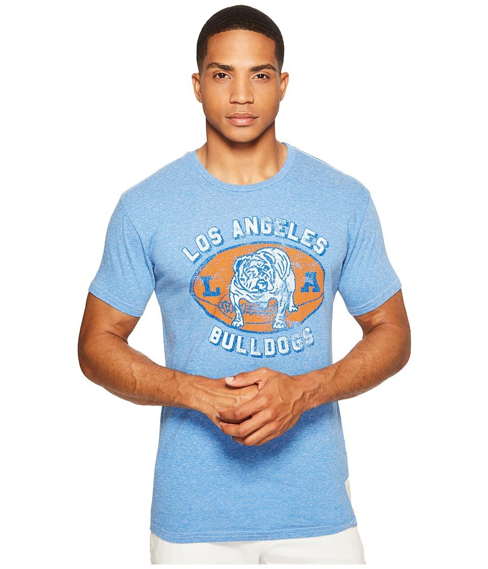 The Original Retro Brand LA Bulldogs Streaky Tri-Blend T-Shirt (Streaky Blue) Men's T Shirt