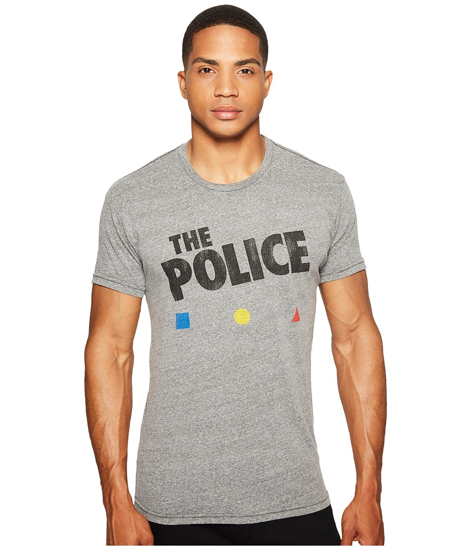 The Original Retro Brand - The Police Short Sleeve Tri-Blend T-Shirt (Streaky Grey) Men's T Shirt