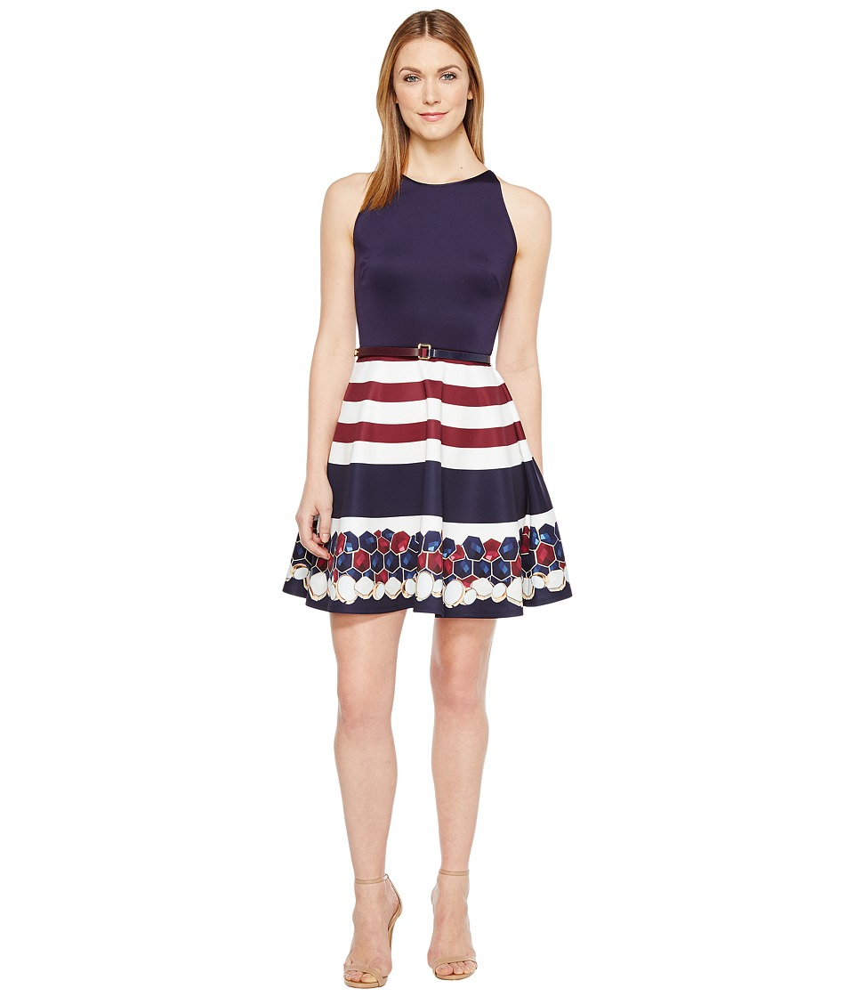 Ted Baker - Annalie Rowing Stripe A-Line Skater Dress (Navy) Women's Dress