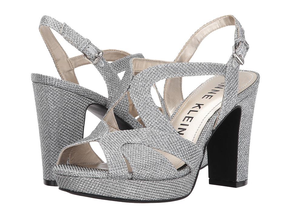 Anne Klein - Petria (Silver Glamour Fabric) Women's Shoes