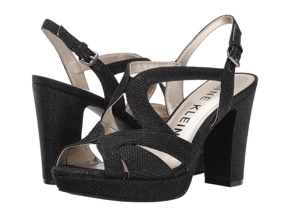 Anne Klein - Petria (Black Glamour Fabric) Women's Shoes