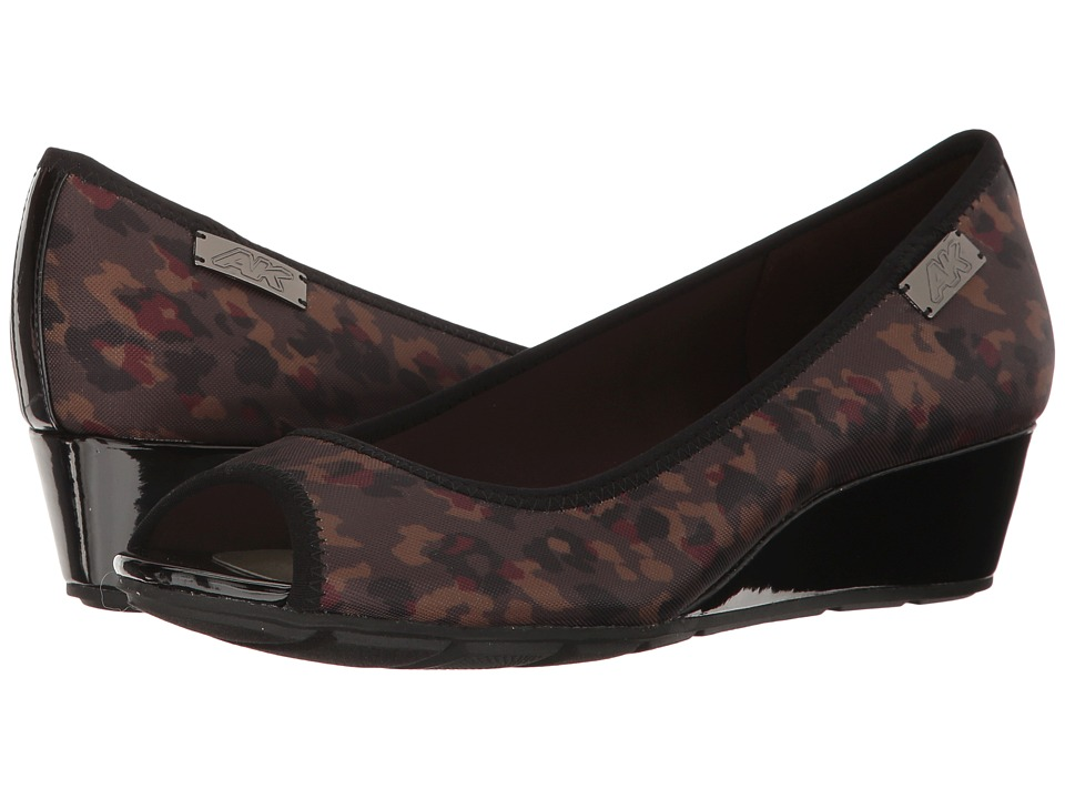Anne Klein Camrynne (Dark Brown Multi Fabric) Women