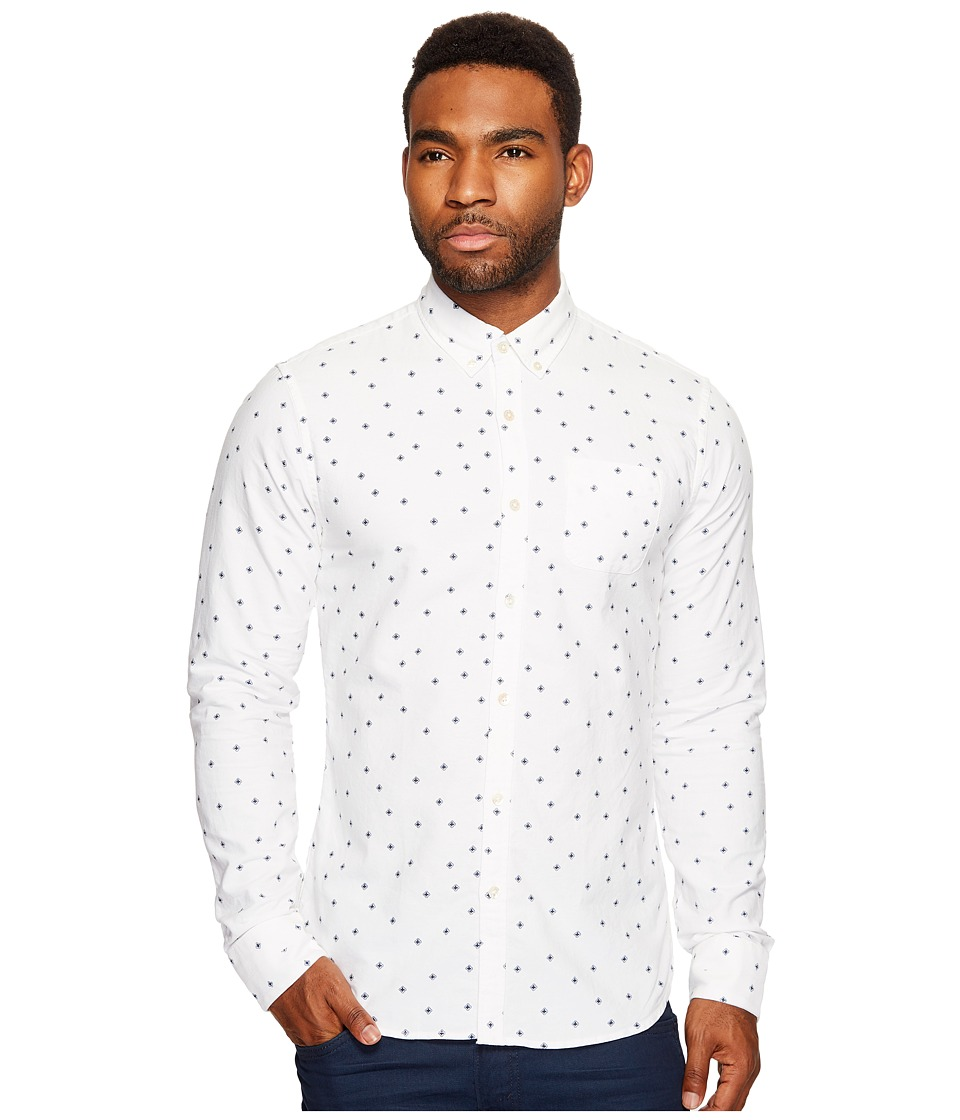 Scotch & Soda - Ams Blauw Slim Fit All Over Printed Shirt in Seasonal Pattern (Combo A) Men's Clothing