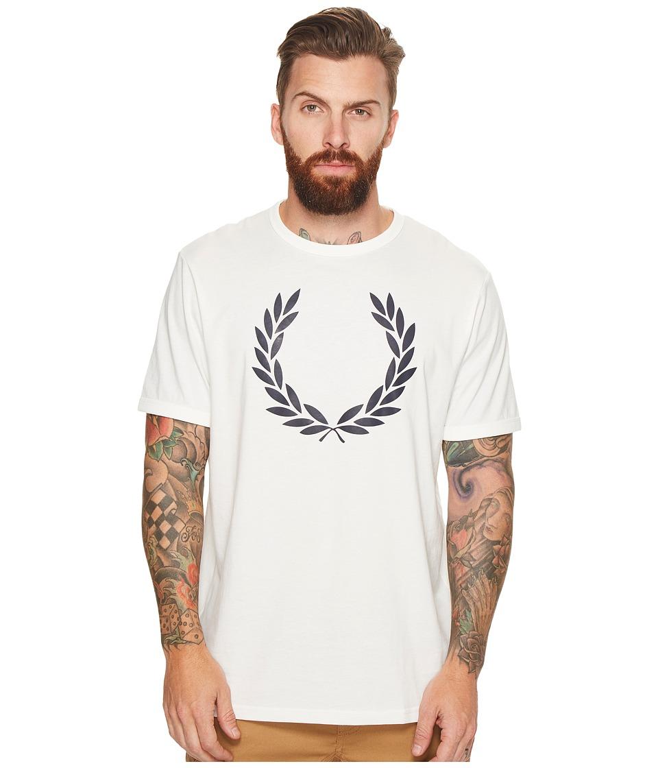 Fred Perry Laurel Wreath Ringer T-Shirt (Snow White) Men