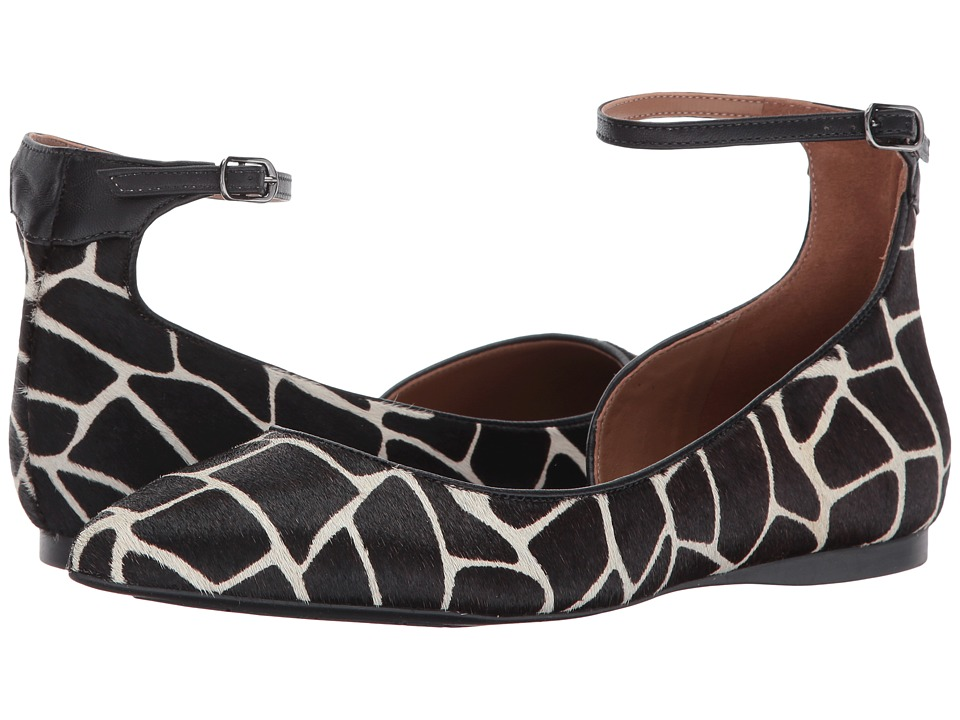 French Sole - Yam (Black Giraffe Haircalf) Women's Shoes