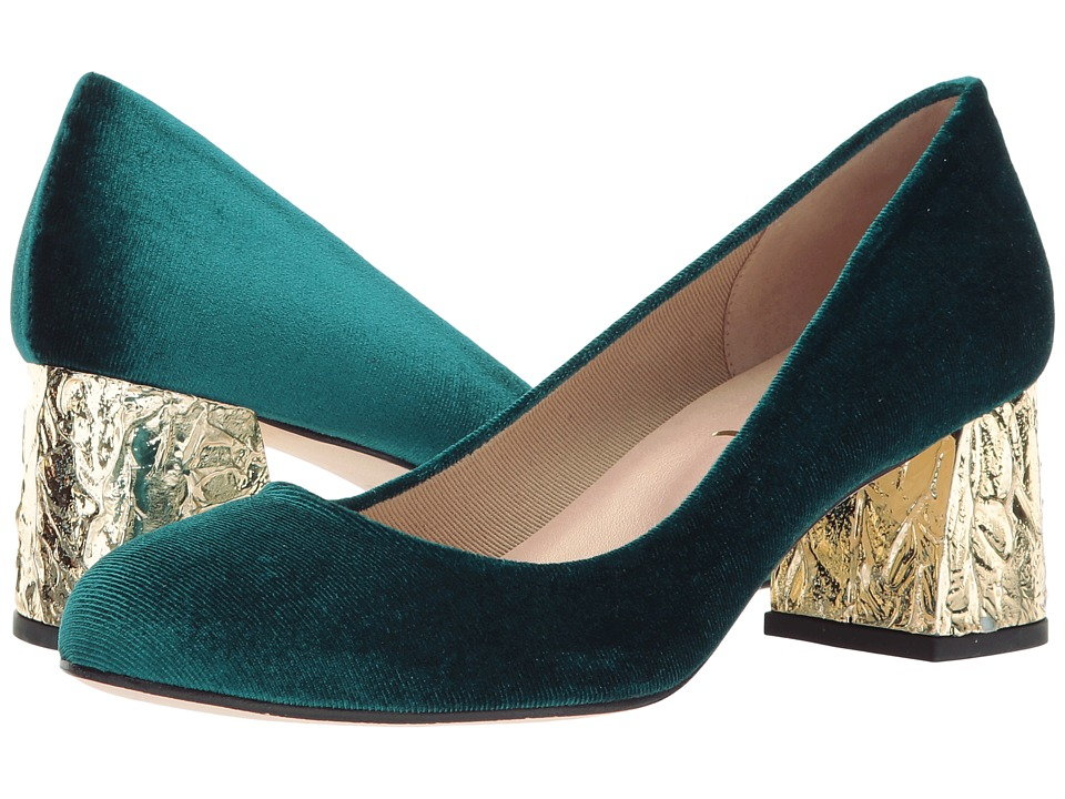 French Sole Trance-X (Emerald Velvet) High Heels