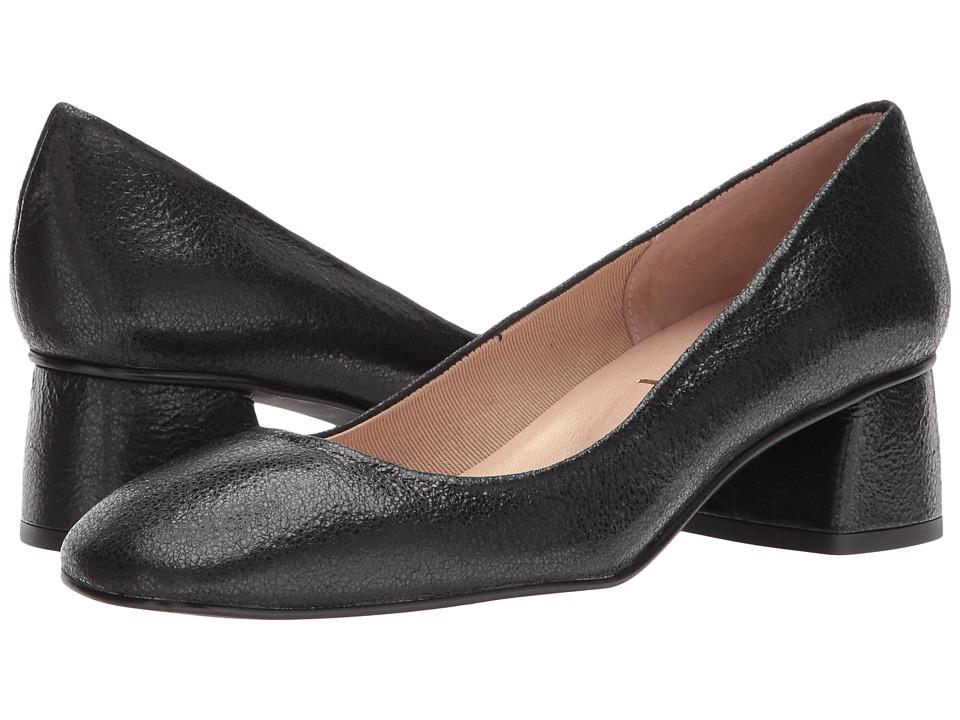 French Sole Yin (Black Cracked Metallic) High Heels