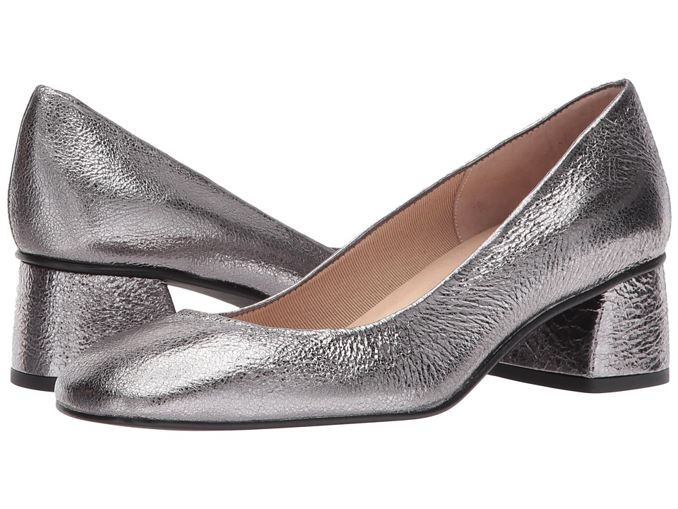French Sole Yin (Old Silver Cracked Metallic) High Heels