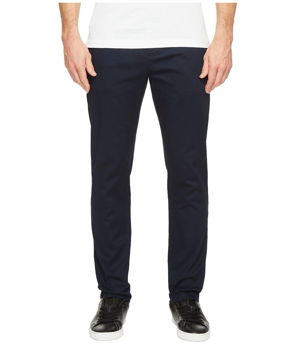 Perry Ellis - Stretch Five-Pocket Bedford Chino Pants (Dark Sapphire) Men's Casual Pants