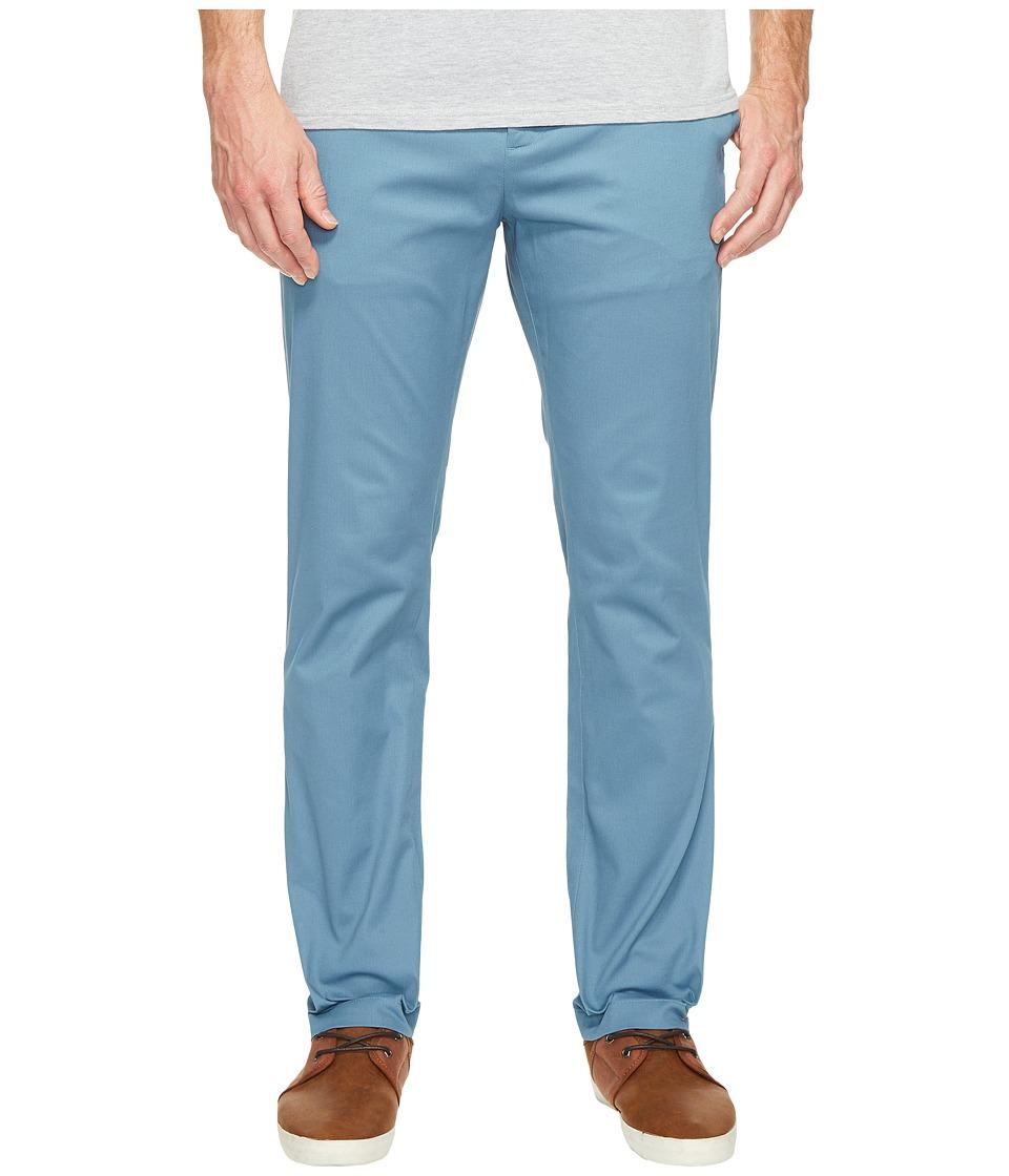 Perry Ellis - Stretch Five-Pocket Bedford Chino Pants (Aegean Blue) Men's Casual Pants