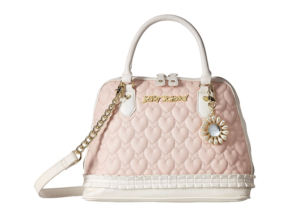 Betsey Johnson - Pleated Medium Dome Satchel (Blush) Satchel Handbags