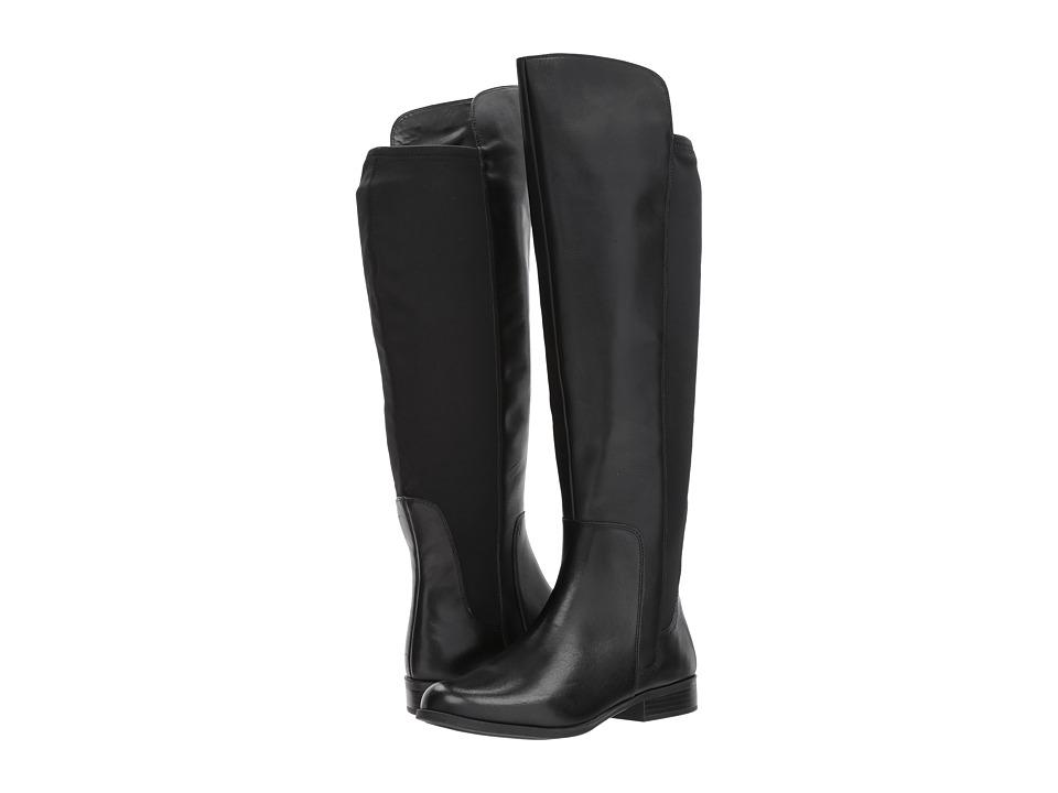 Bandolino Chieri Wide Calf (Black Santiago Leather/Lycra) Women