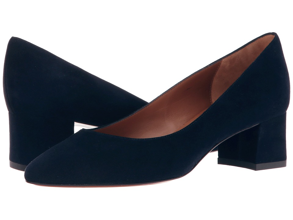 Aquatalia - Pheobe (Navy Suede) Women's 1-2 inch heel Shoes