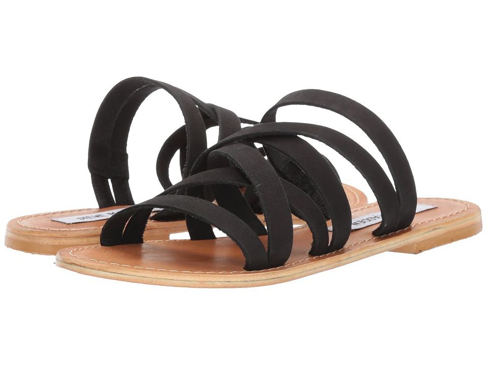 Steve Madden - Campbell (Black Leather) Women's Sandals