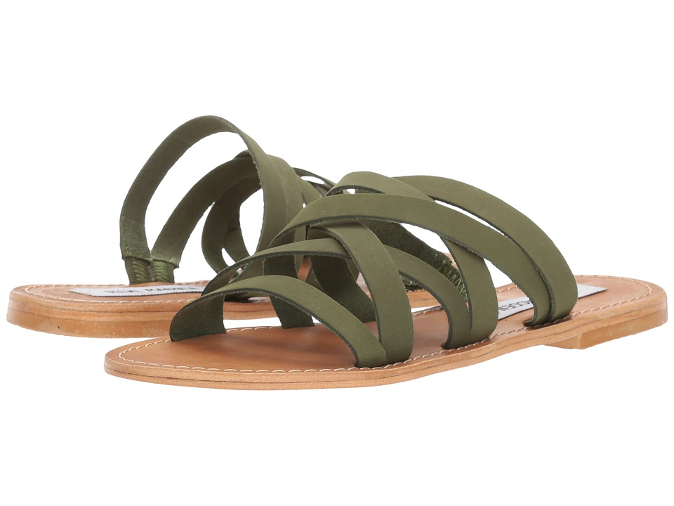 Steve Madden - Campbell (Olive Leather) Women's Sandals