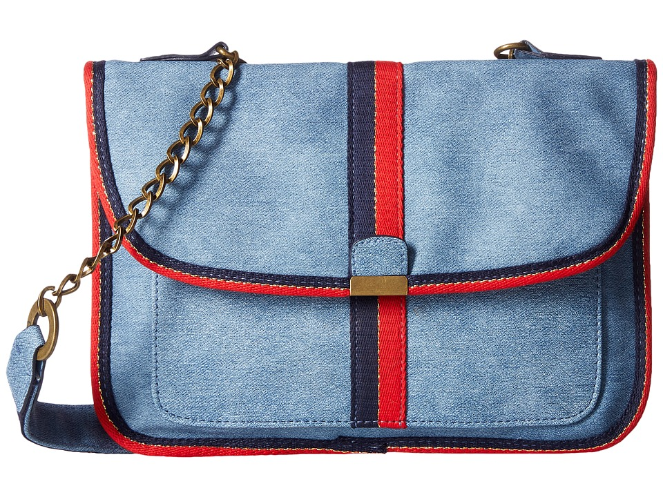 Circus by Sam Edelman - Izzy Crossbody Bag (Chambray/Red Blue) Cross Body Handbags