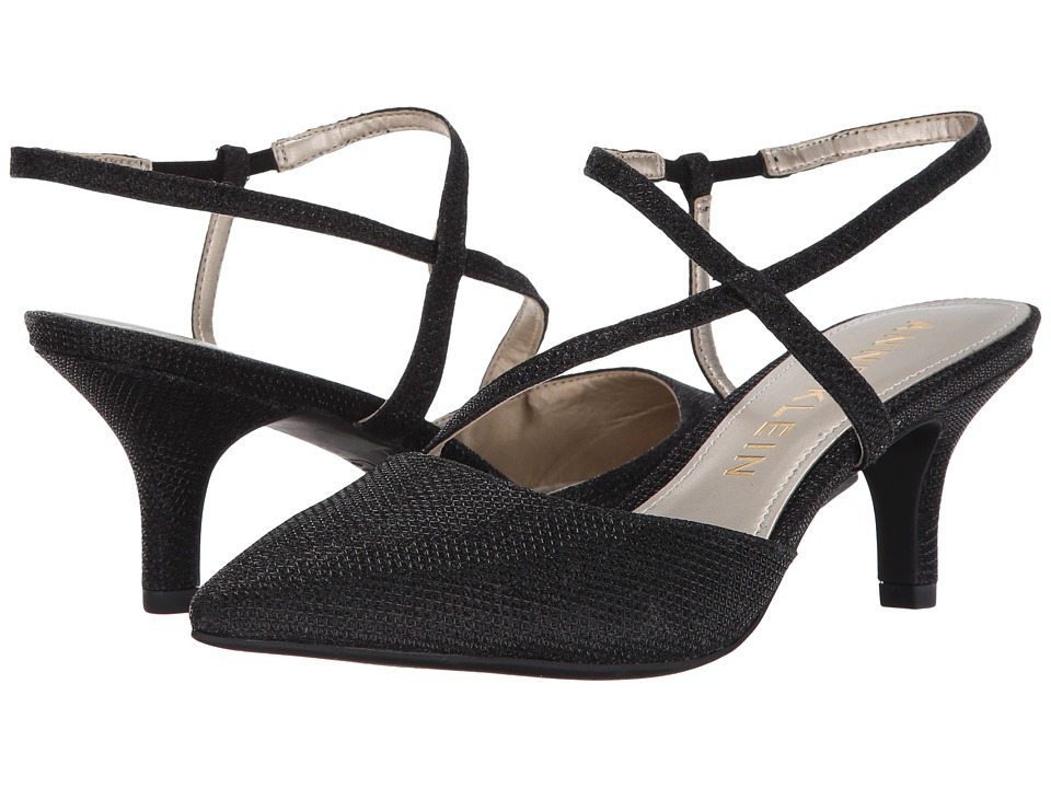 Anne Klein - Ferdie (Black Fabric) Women's Shoes