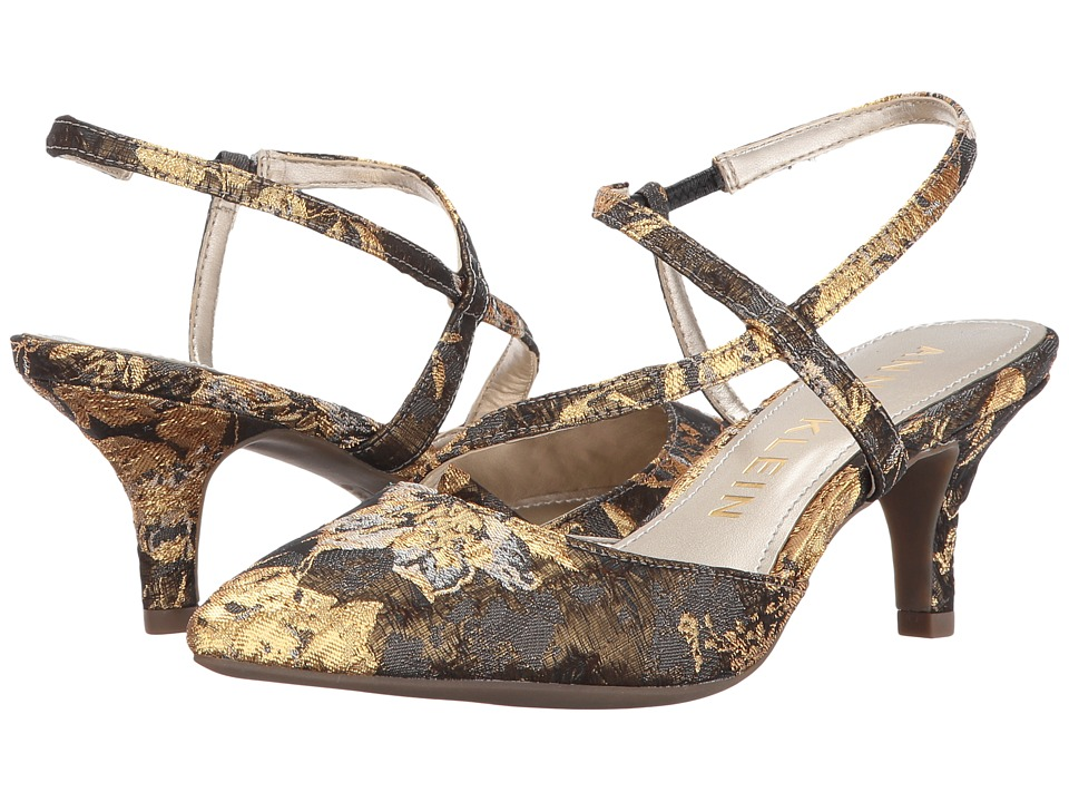 Anne Klein - Ferdie (Dark Grey/Gold Multi Fabric) Women's Shoes